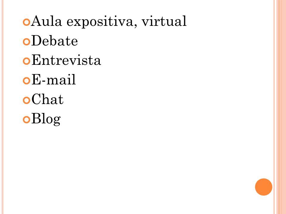 Aula expositiva, virtual