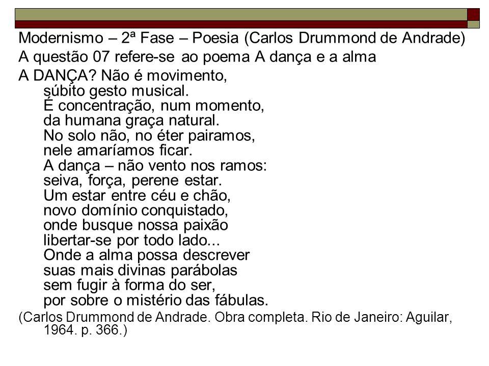 Modernismo – 2ª Fase – Poesia (Carlos Drummond de Andrade)