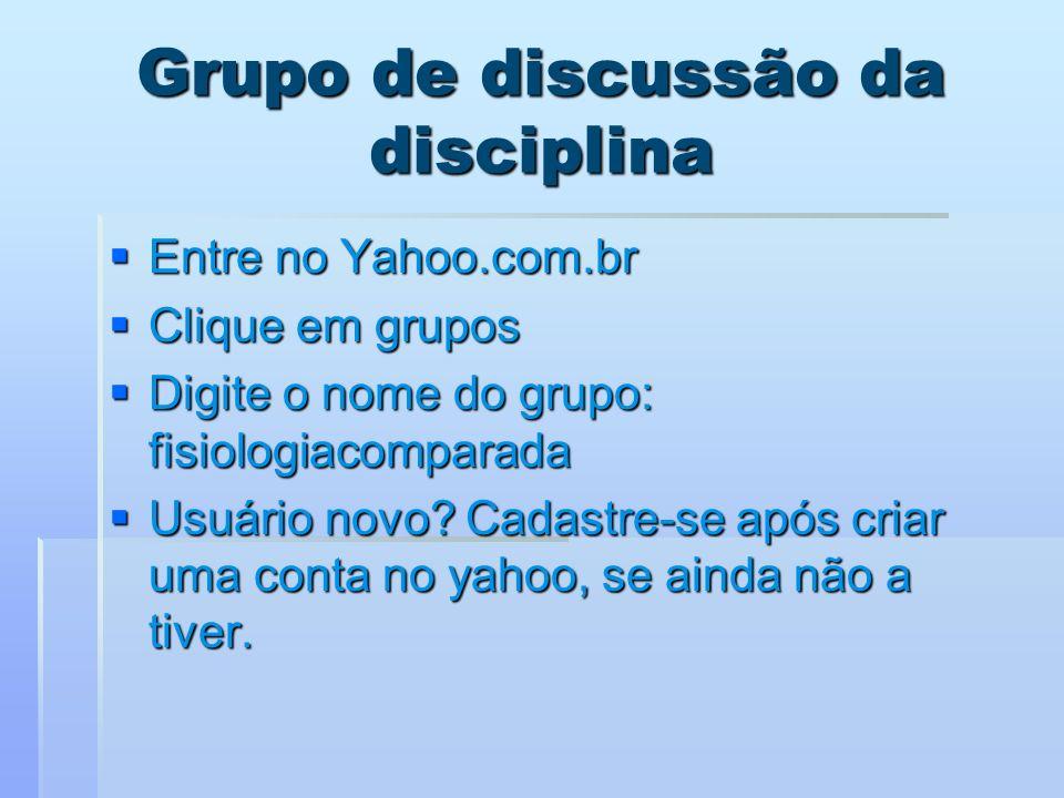 Grupo de discussão da disciplina