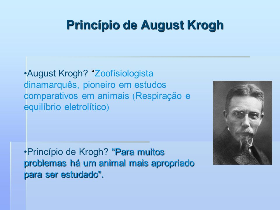 Princípio de August Krogh