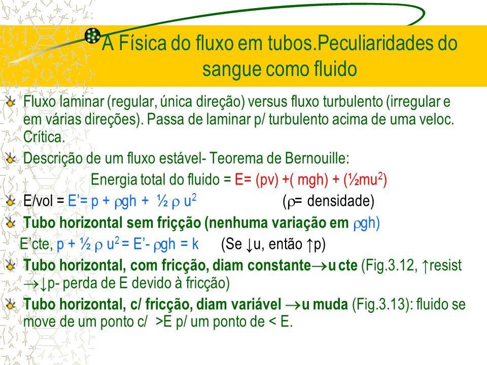 A Física do fluxo em tubos.Peculiaridades do sangue como fluido