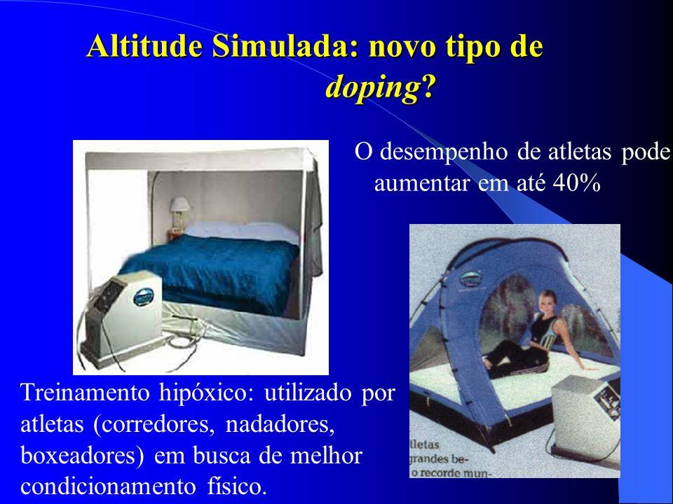 Altitude Simulada: novo tipo de doping