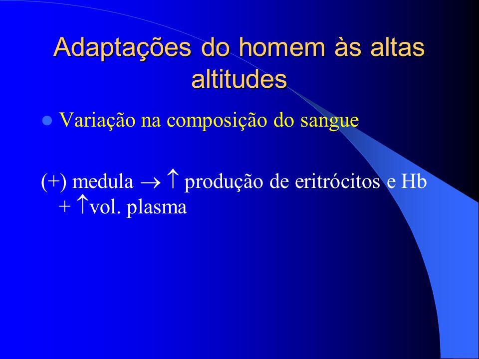 Adaptações do homem às altas altitudes