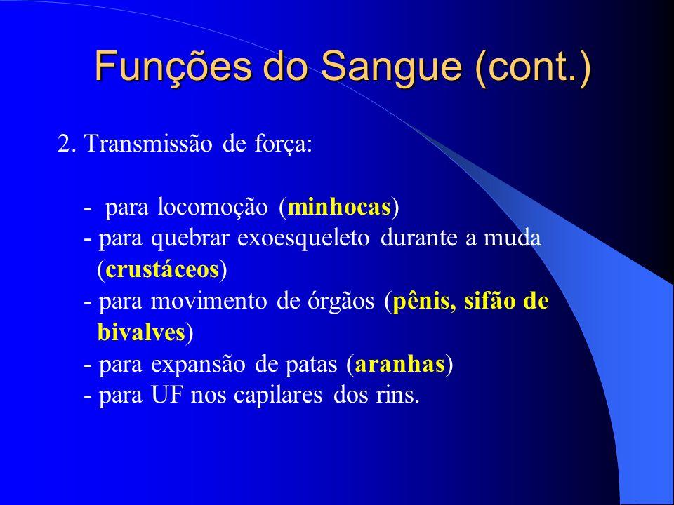 Funções do Sangue (cont.)