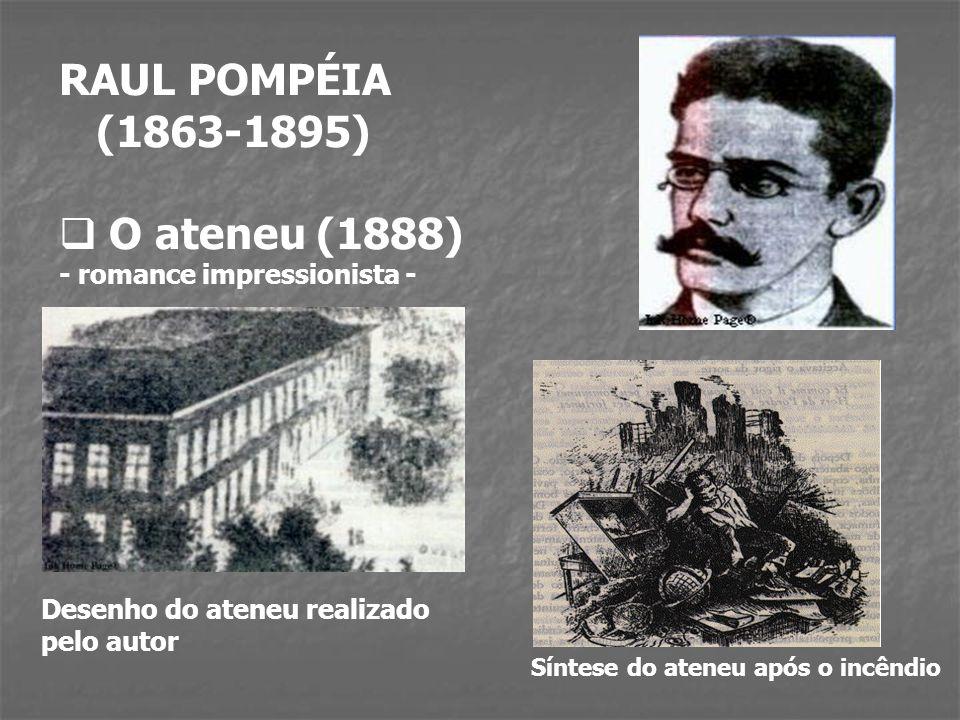 RAUL POMPÉIA (1863-1895) O ateneu (1888) - romance impressionista -