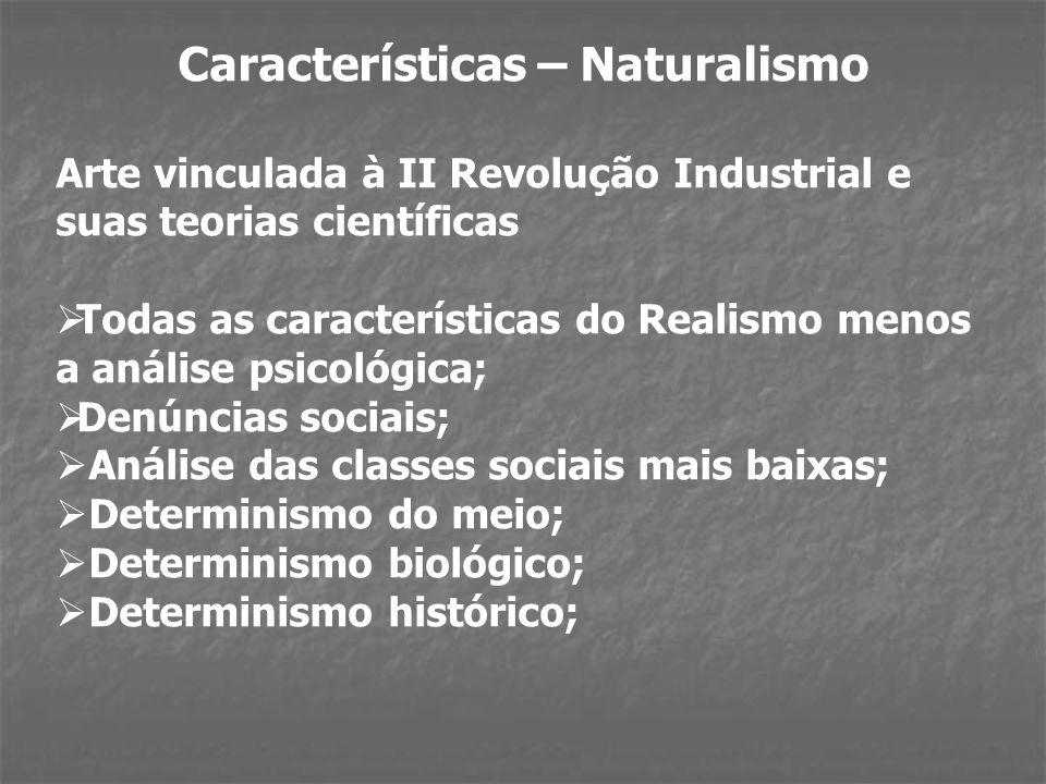 Características – Naturalismo