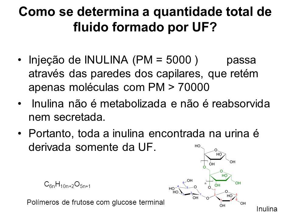 Como se determina a quantidade total de fluido formado por UF