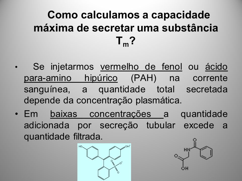 Como calculamos a capacidade máxima de secretar uma substância Tm