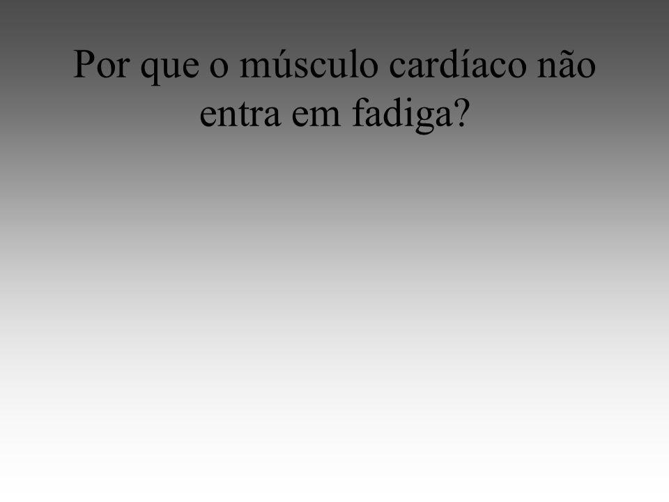 Por que o músculo cardíaco não entra em fadiga