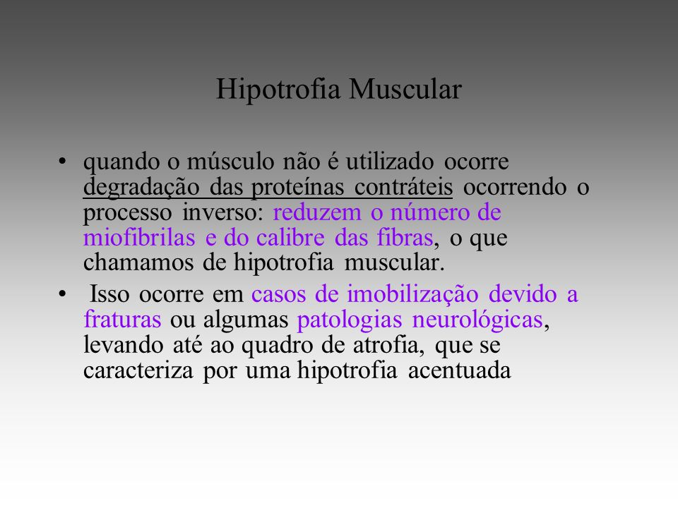 Hipotrofia Muscular