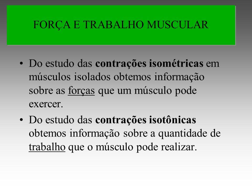 FORÇA E TRABALHO MUSCULAR