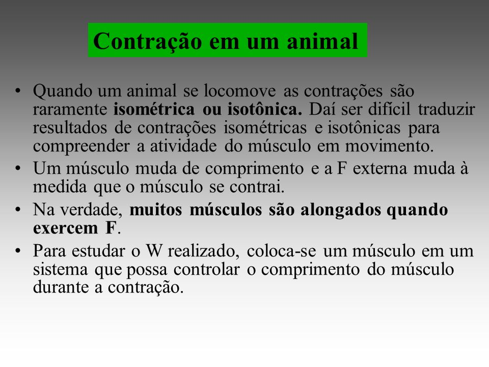 Contração em um animal