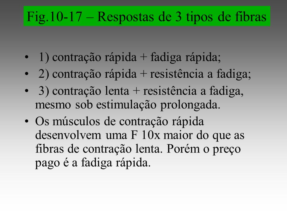Fig.10-17 – Respostas de 3 tipos de fibras