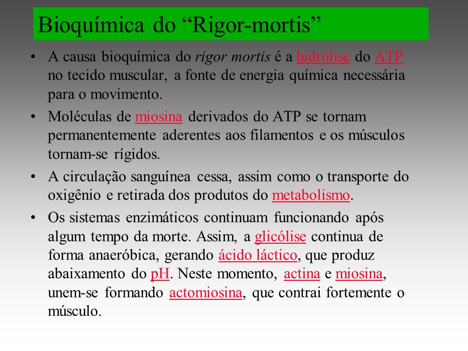 Bioquímica do Rigor-mortis