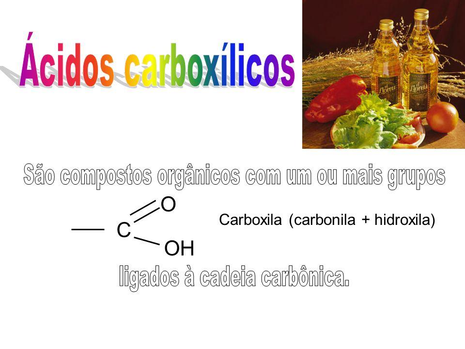 São compostos orgânicos com um ou mais grupos