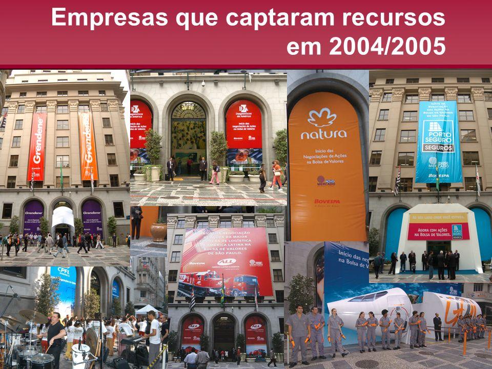Empresas que captaram recursos em 2004/2005