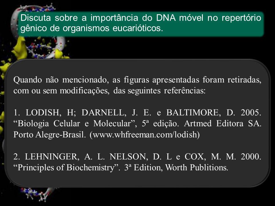 Discuta sobre a importância do DNA móvel no repertório gênico de organismos eucarióticos.