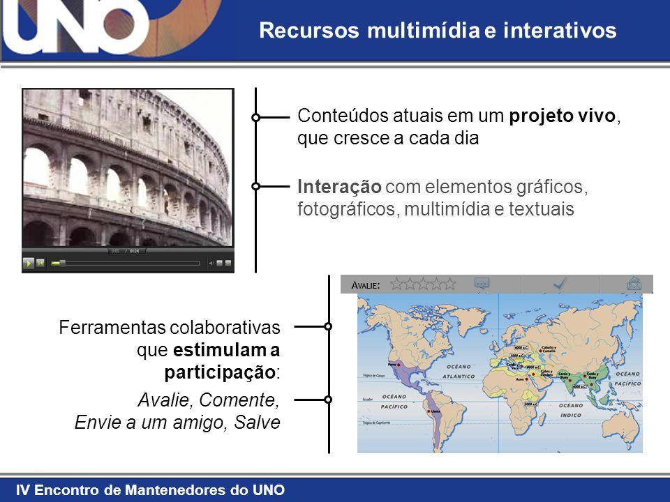 Recursos multimídia e interativos