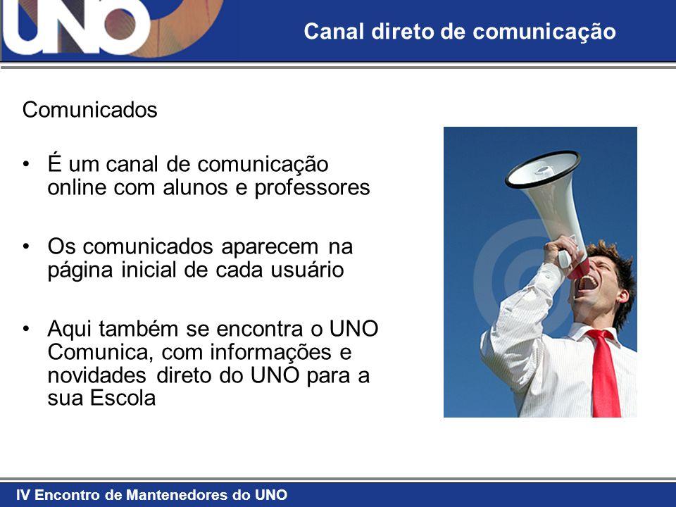 Canal direto de comunicação