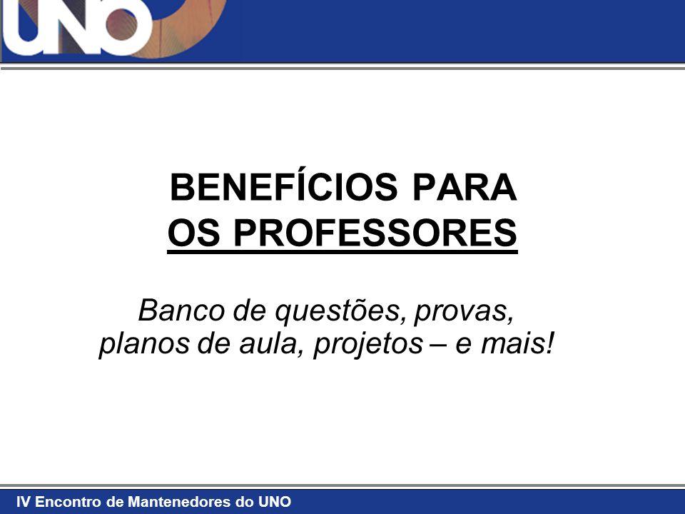 BENEFÍCIOS PARA OS PROFESSORES