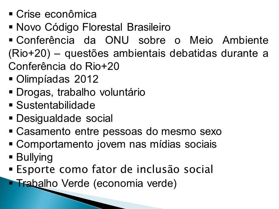 Crise econômica Novo Código Florestal Brasileiro.