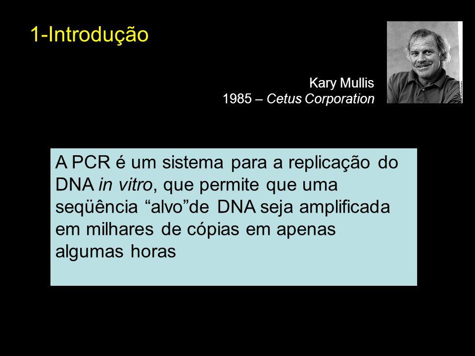 1-Introdução Kary Mullis. 1985 – Cetus Corporation.