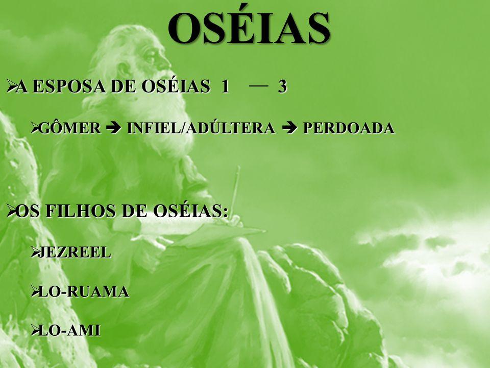 OSÉIAS A ESPOSA DE OSÉIAS 1 3 OS FILHOS DE OSÉIAS: