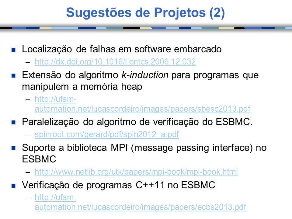 Sugestões de Projetos (2)