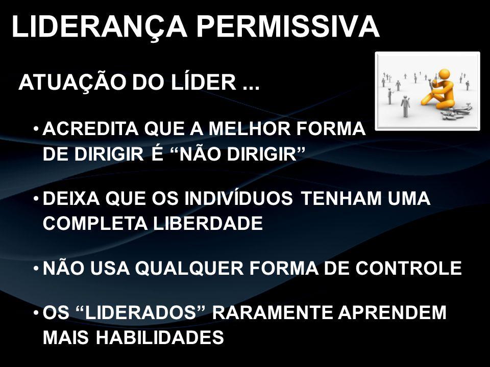 LIDERANÇA PERMISSIVA ATUAÇÃO DO LÍDER ...