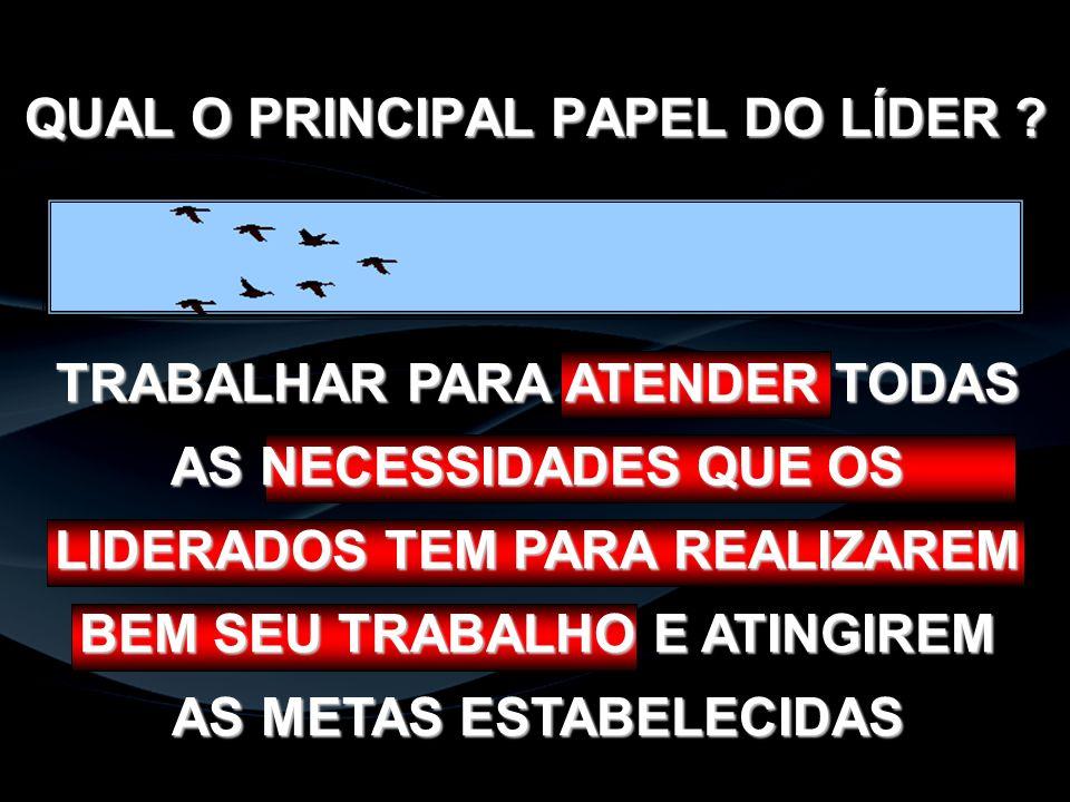 QUAL O PRINCIPAL PAPEL DO LÍDER