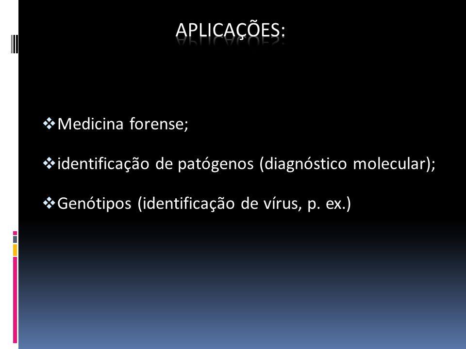 Aplicações: Medicina forense;