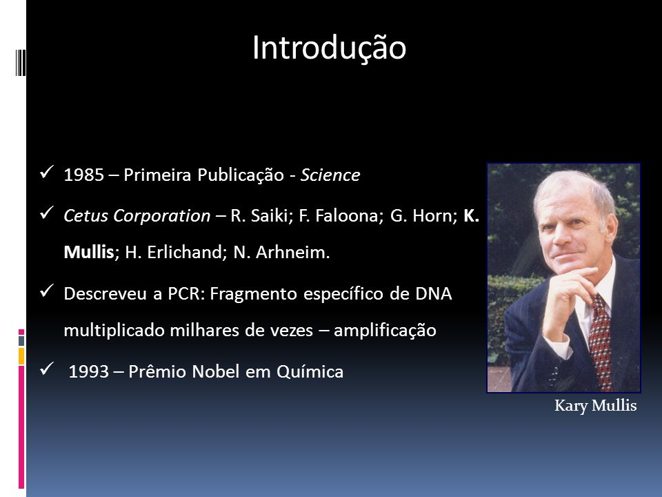Introdução 1985 – Primeira Publicação - Science