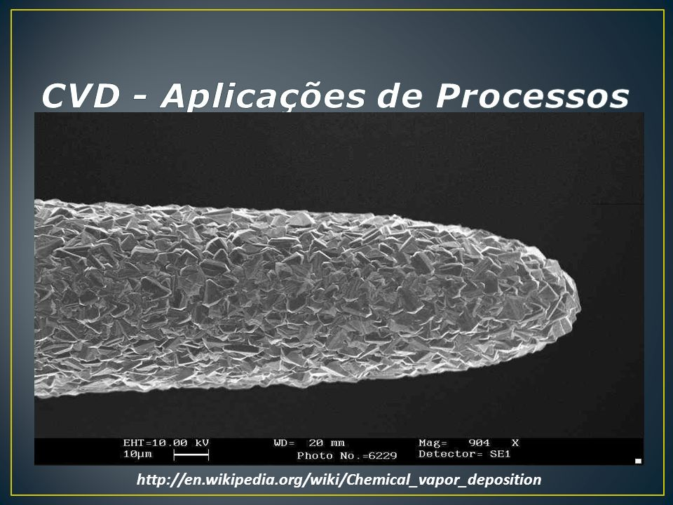 CVD - Aplicações de Processos
