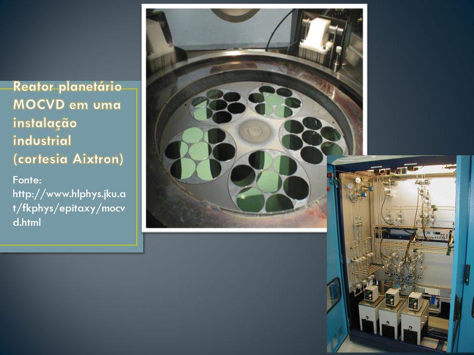 Reator planetário MOCVD em uma instalação industrial (cortesia Aixtron)