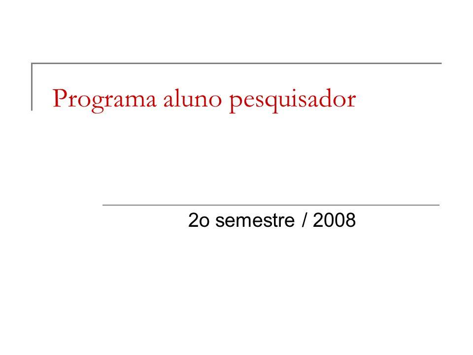 Programa aluno pesquisador
