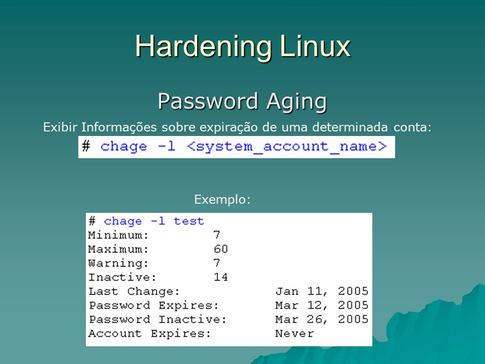Hardening Linux Password Aging
