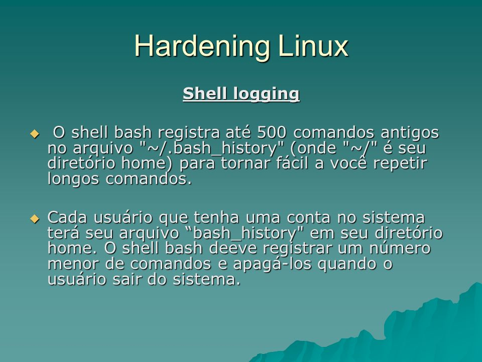 Hardening Linux Shell logging