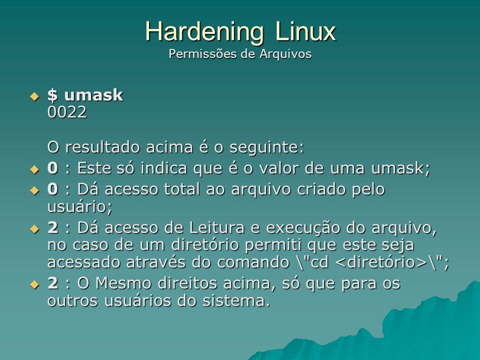 Hardening Linux Permissões de Arquivos