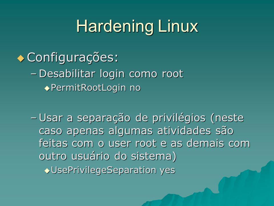 Hardening Linux Configurações: Desabilitar login como root
