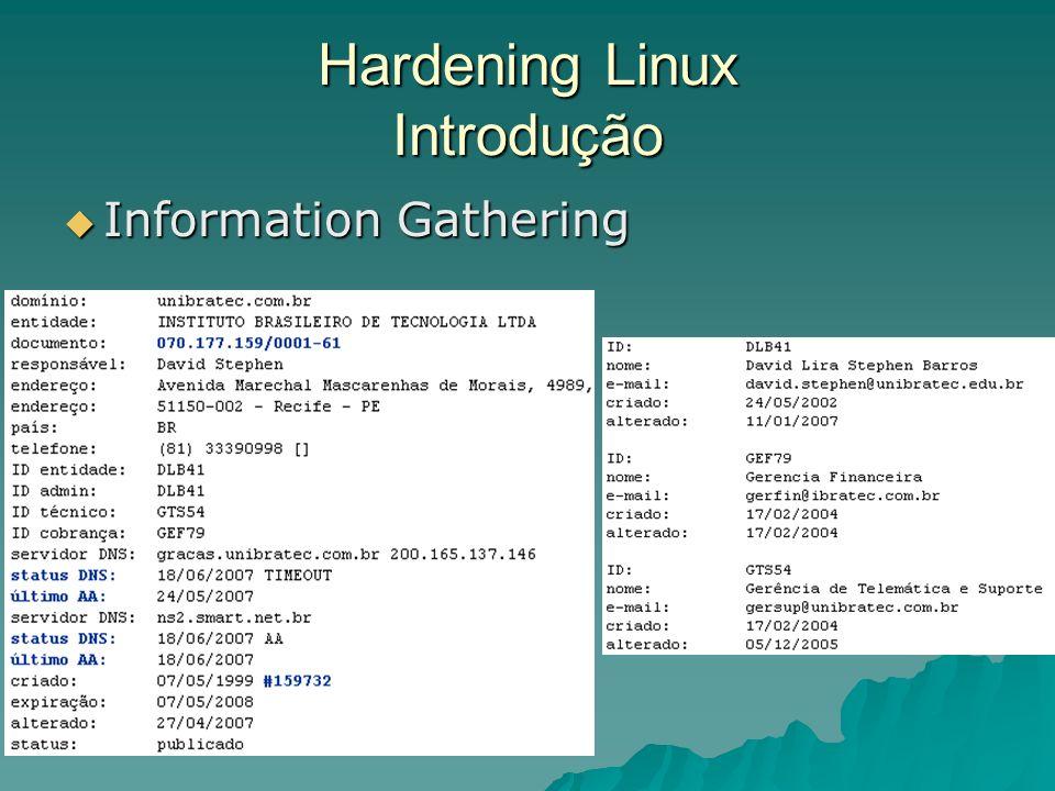 Hardening Linux Introdução