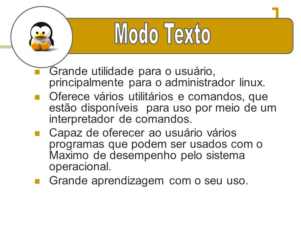 Modo TextoGrande utilidade para o usuário, principalmente para o administrador linux.