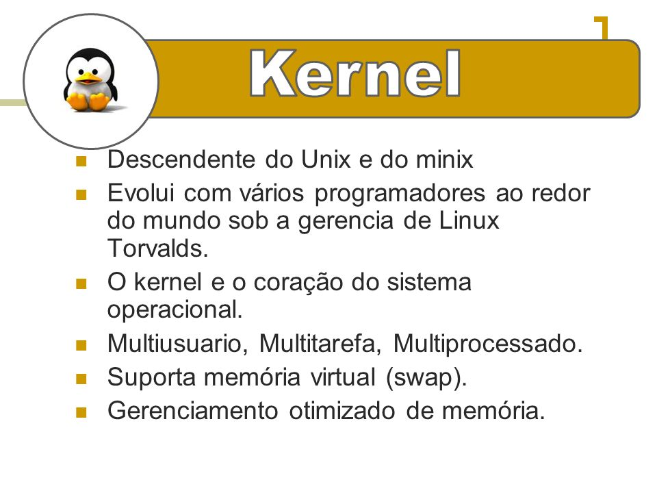 e Kernel Descendente do Unix e do minix