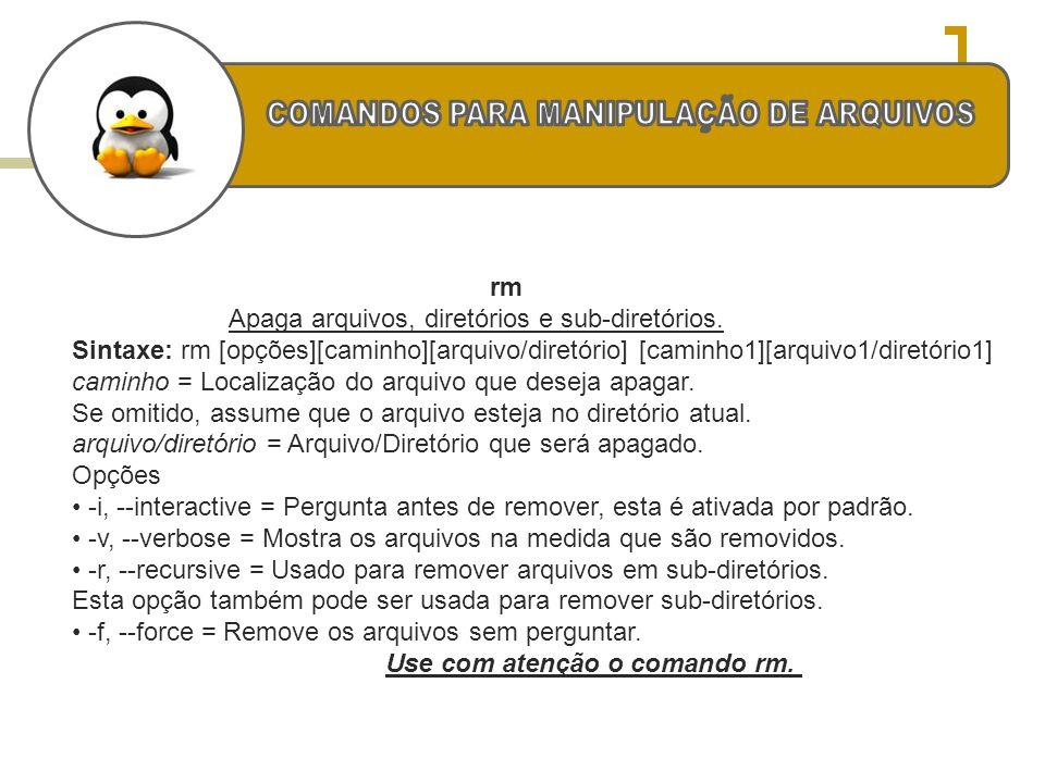 COMANDOS PARA MANIPULAÇÃO DE ARQUIVOS