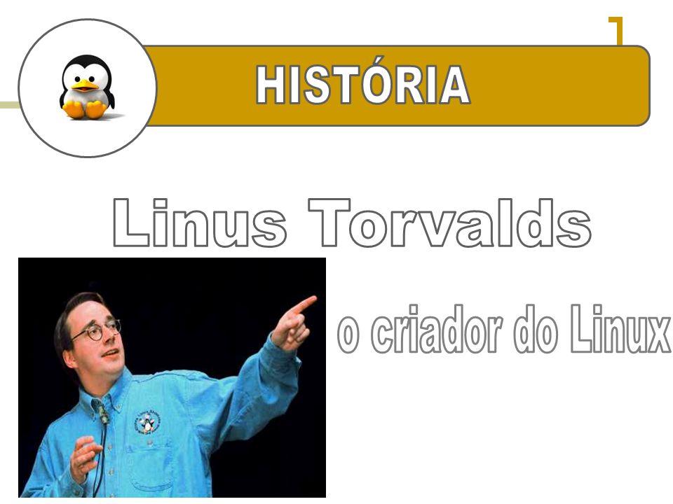 HISTÓRIA HISTÓRIA Linus Torvalds o criador do Linux
