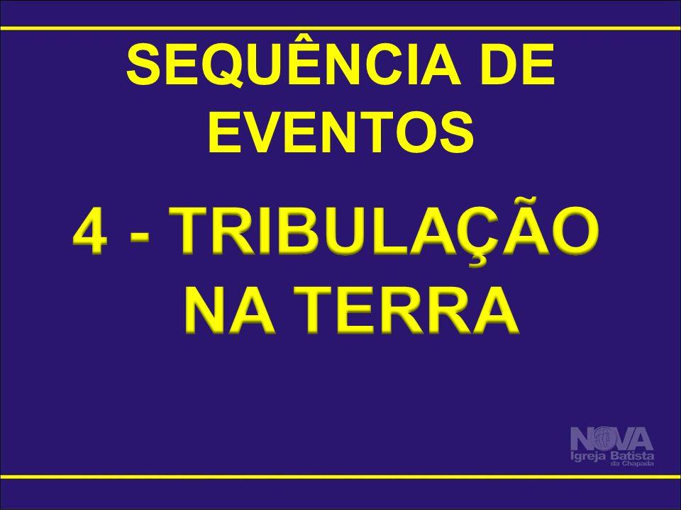 SEQUÊNCIA DE EVENTOS 4 - TRIBULAÇÃO NA TERRA