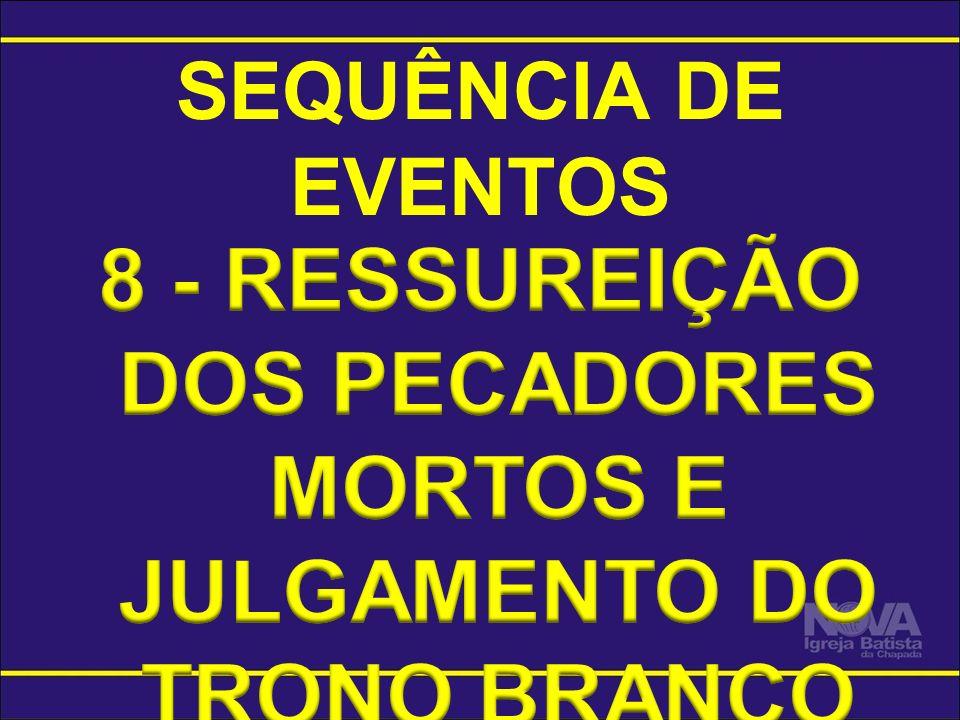 8 - RESSUREIÇÃO DOS PECADORES MORTOS E JULGAMENTO DO TRONO BRANCO