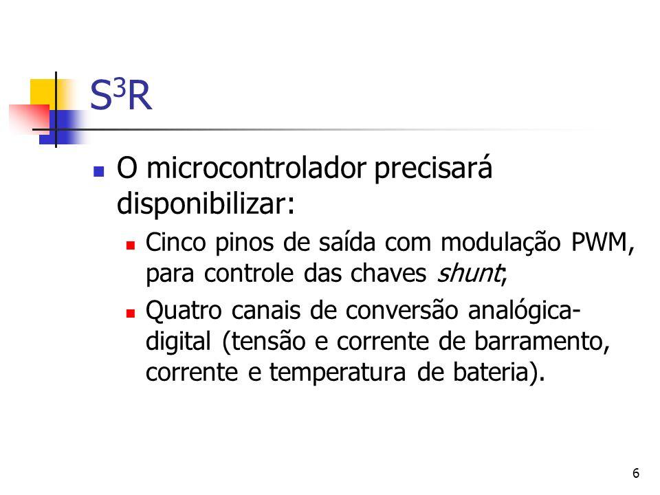 S3R O microcontrolador precisará disponibilizar: