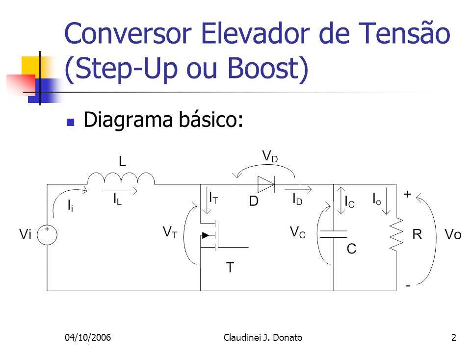 Conversor Elevador de Tensão (Step-Up ou Boost)