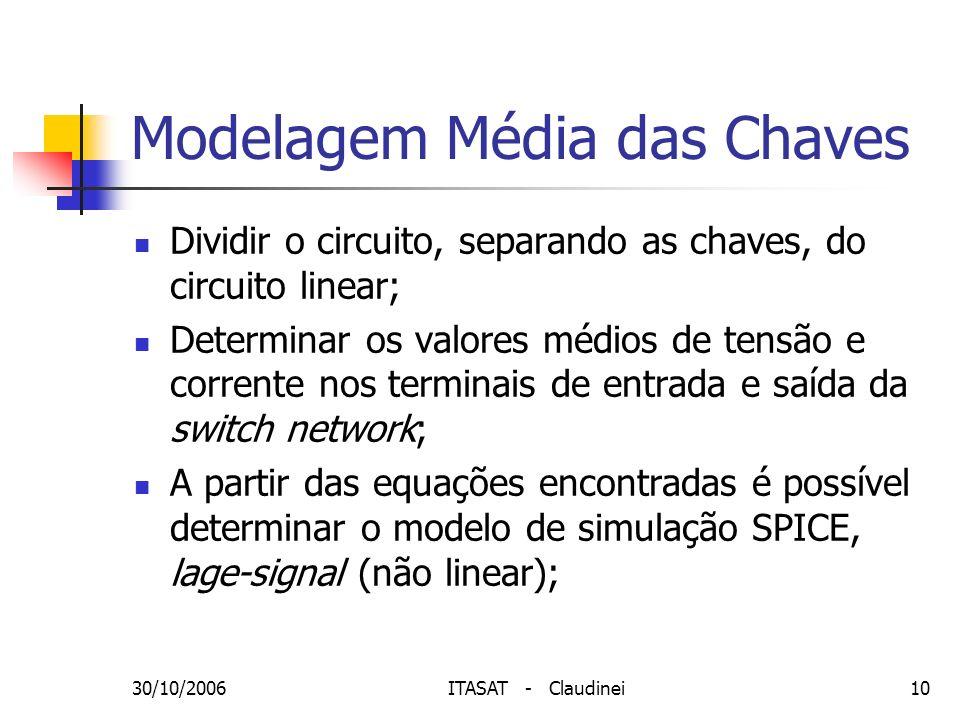 Modelagem Média das Chaves