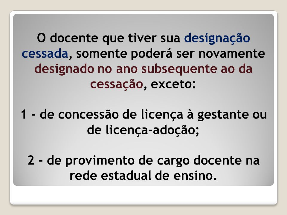1 - de concessão de licença à gestante ou de licença-adoção;